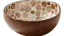 coconut bowls from coconut shells