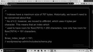 php table wordpress