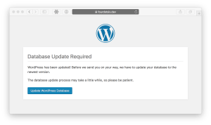 wordpress database upgrade