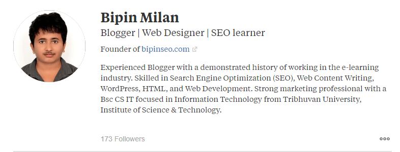 Solid Quora Profile