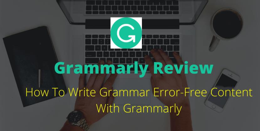 Grammar Error-Free Content