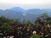 Pemandangan Telaga Warna dari Bukit Teletubbies