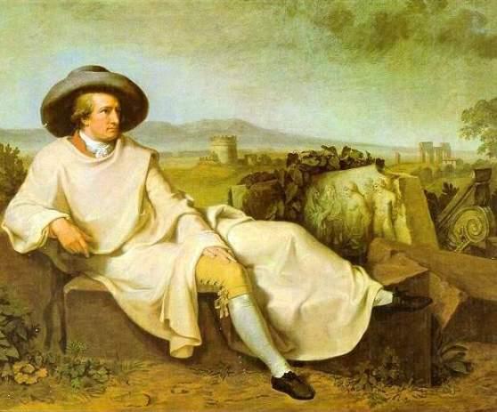Goethe durante sus viajes a Italia