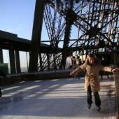 Pista de patinaje en la Torre Eiffel