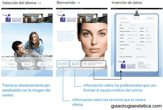 TWINIA: selección del idioma, bienvenida e inserción de datos