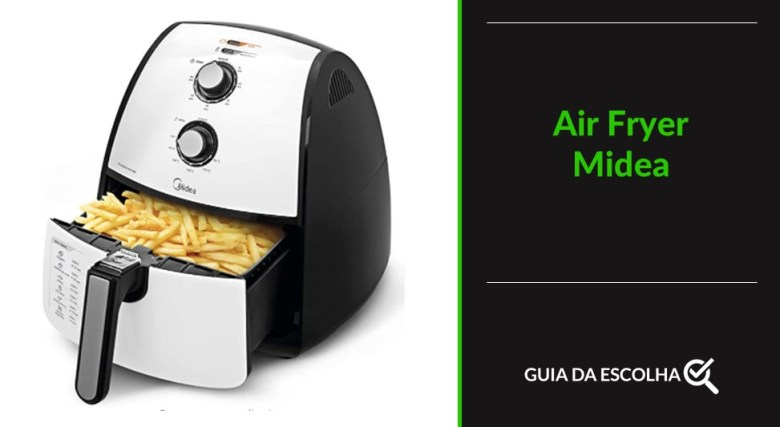 fritadeira elétrica Midea representando um dos modelos de melhor air fryer 2021