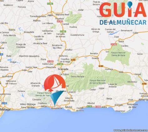 Pueblos y Ciudades cercanas a Almuñécar, Andalucía.