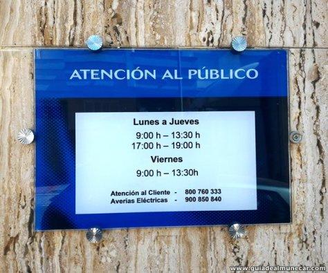 Horario Endesa Sevillana en Almuñécar.
