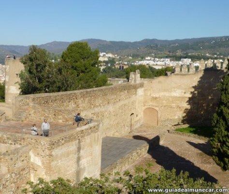 Ciudad de Málaga, interior del Castillo de Gibralfaro.
