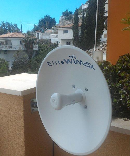 Antena de Elite Wimax en Los Pinos, Almuñécar.