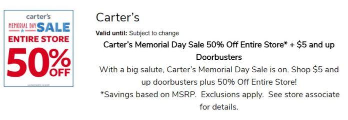 Memorial Day Carters LBVFS 1