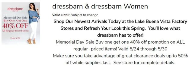 Memorial Day Dressbarn LBVFS 4
