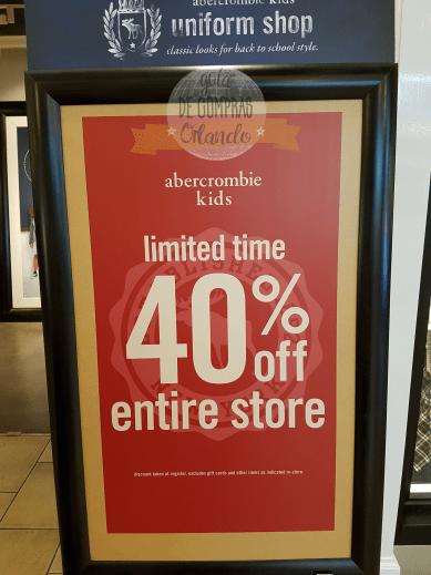 Sales Abercrombie TFM