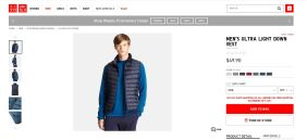 Uniqlo MEN'S ULTRA LIGHT DOWN VEST