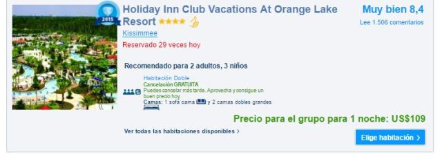 Holiday Inn Club Vacations At Orange Lake Resort precio