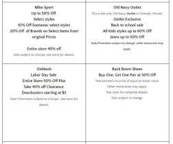 Deals Lake Buena Vista Factory Store Septiembre 05