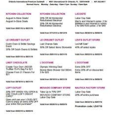Deals Orlando International Premium Outlet Septiembre 05