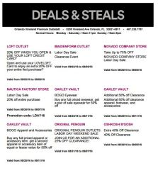 Deals Orlando Vineland Premium Outlet septiembre 2016 3