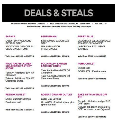 Deals Orlando Vineland Premium Outlet septiembre 2016 6
