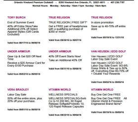 Deals Orlando Vineland Premium Outlet septiembre 2016 9