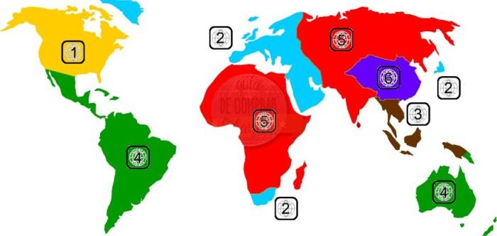 DVD Zones Map