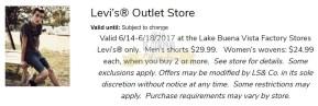 Cupones Lake Buena Vista Factory Stores 4th of July 15