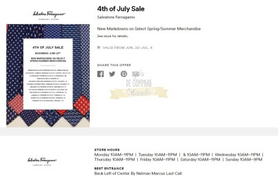 Cupones Premium Outlets 4th of July 10