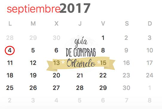 Labor Day 2017 Calendar