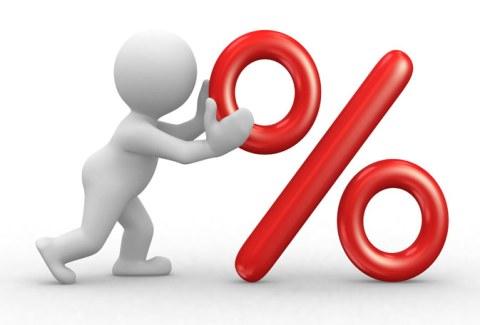 Reducción de porcentaje