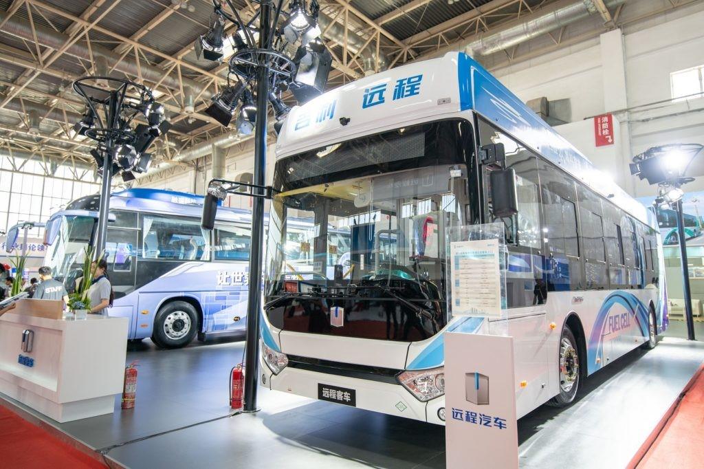 Fabricante chino lanza bus de pila de combustible de hidrógeno