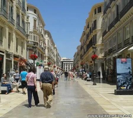 Calle Peatonal Larios en la Ciudad de Málaga, Casco Histórico.