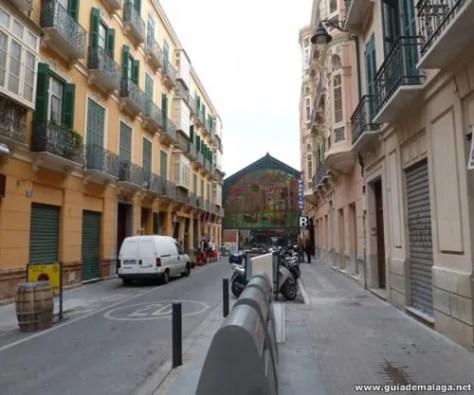 Calle de Málaga y Mercado de Atarazanas.
