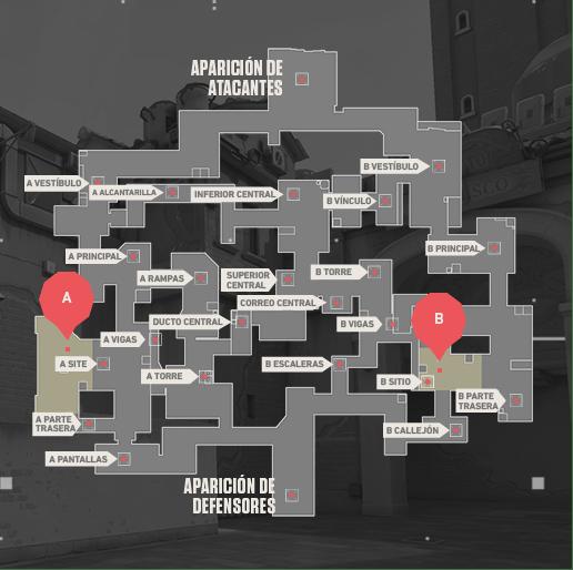 Mapa SPLIT Valorant