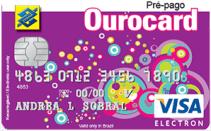 Cartão de crédito pré-pago Ourocard pré-pago visa
