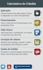Finanças para celular: bc