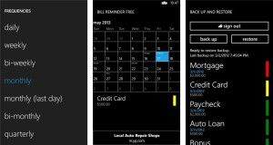 Finanças para celular: bill reminder