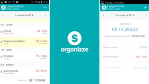 Finanças para celular: organizze