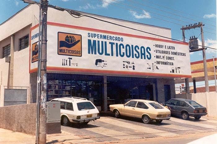 Primeira loja Multicoisas, inaugurada em Campo Grande, em 1984