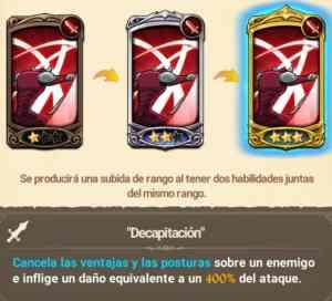 Habilidades Galand Fuerza Rojo. The seven deadly sins grand cross. Decapitacion