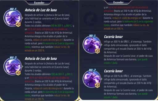 Habilidades de Artemisa, Saint Seiya Awakening KotZ, Astucia y cacería