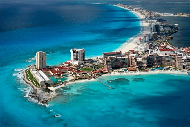 vuelos de Barcelona a Cancun por 345 euros I/V