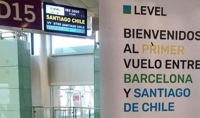 Comenzaron los Vuelos Barcelona Santiago de Chile