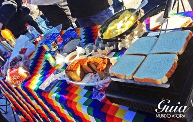 Café da manhã em Piedras Rojas Atacama