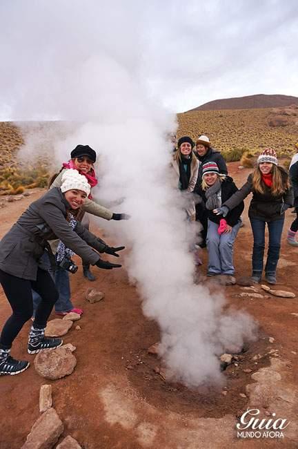 Vapor dos Geysers del Tatio Atacama