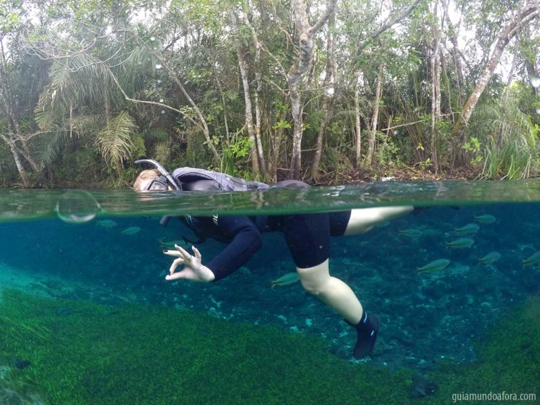 Flutuação no Rio Sucuri