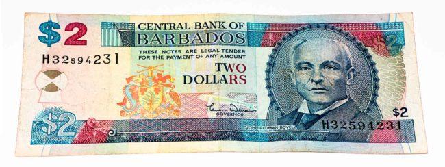 Dinheiro dólar Barbadiano