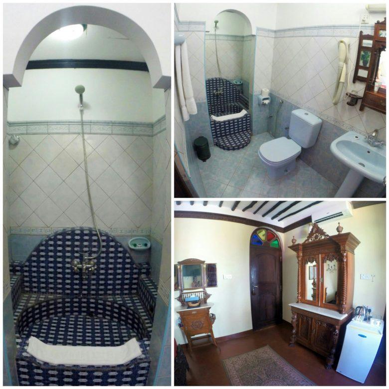 banheiro de hospedagem em Stone Town