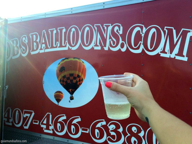 brinde ao passeio de balão