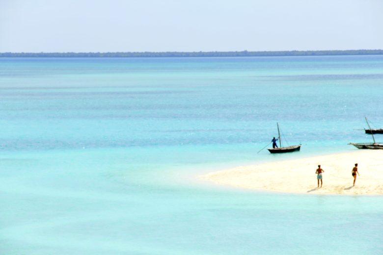 praia de hotel em Zanzibar