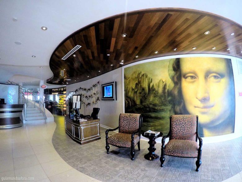 recepção do hotel para famílias em Orlando